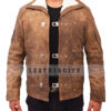 Wolfenstein The New Order Game William B.J Blazkowicz Leather Jacket Front 1