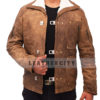 Wolfenstein The New Order Game William B.J Blazkowicz Leather Jacket Front 3