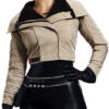 Solo A Star Wars Story Qira Leather Jacket Front
