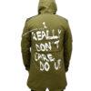Melania Trump I Really Don't Care Jacket Back