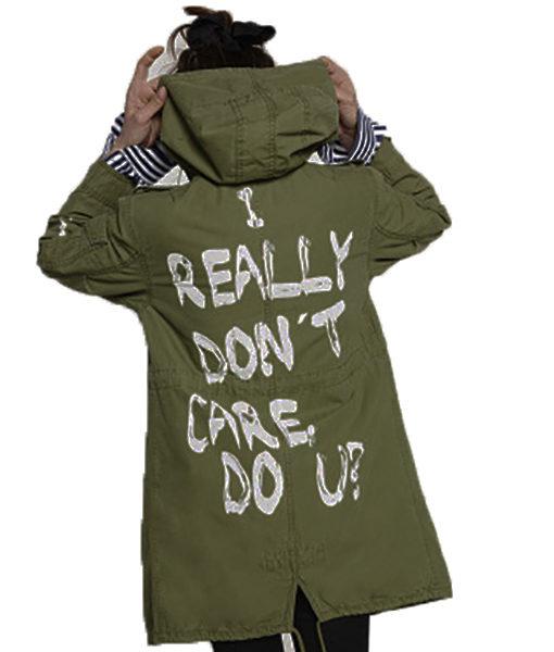 """Melania Trump """"I Really Don't Care"""" Green Jacket"""