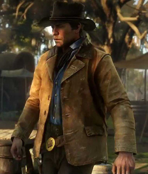 Arthur Morgan Red Dead Redemption 2 Rdr2 Leather Jacket