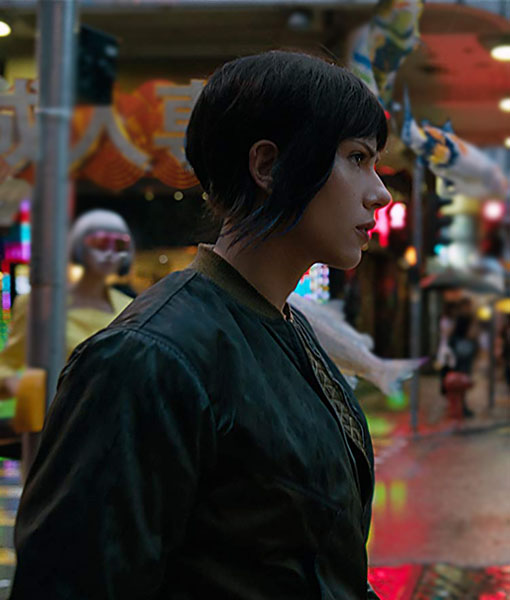 Scarlett Johansson Ghost In The Shell Leather Jacket Theleathercity