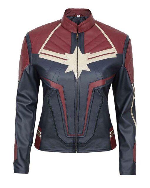 Captain Marvel Costume Leather Jacket