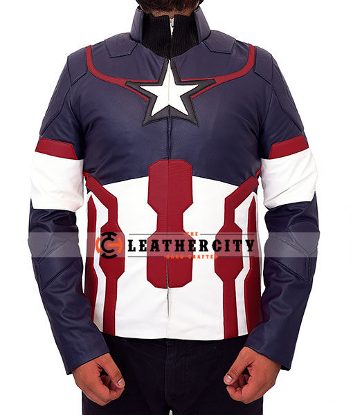Chris Evan's Avengers Age of Ultron Captain America Jacket