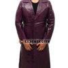 Joker Purple Trench Coat