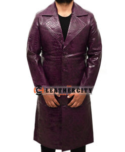 Joker Purple Trench Coat