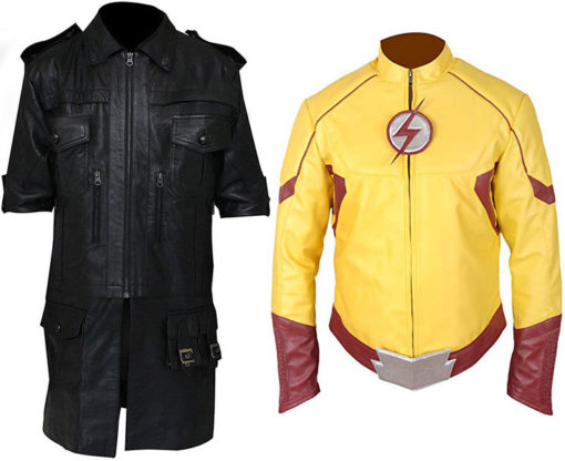 Final Fantasy XV Noctis Lucis Caelum Leather Jacket + The Kid Flash Jacket