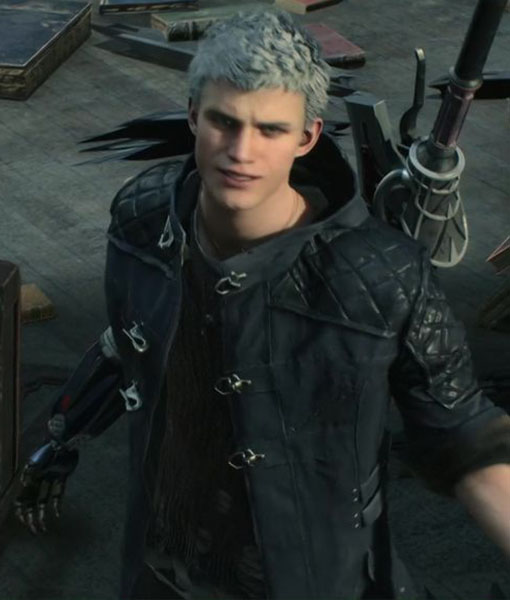 Devil May Cry 5: Devil May Cry 5 Nero Leather Coat In Black Color