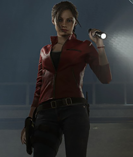 Resident Evil 2 S Claire Redfield Red Leather Jacket Theleathercity