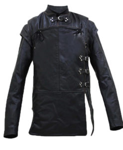 GOT 's Kit Harington Black Leather Jacket
