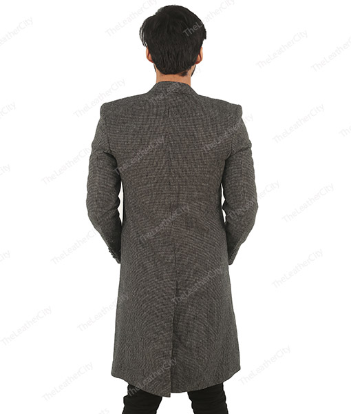 Luther TV Series John Luther (Idris Elba) Grey Wool Trench Coat