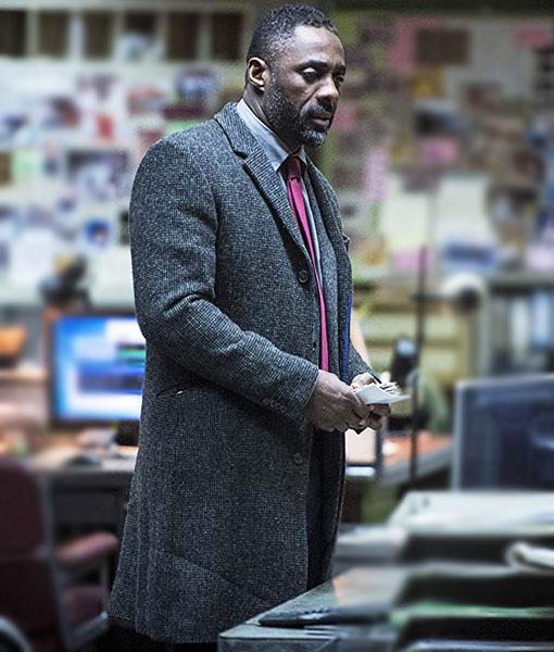 Idris Elba Luther Coat
