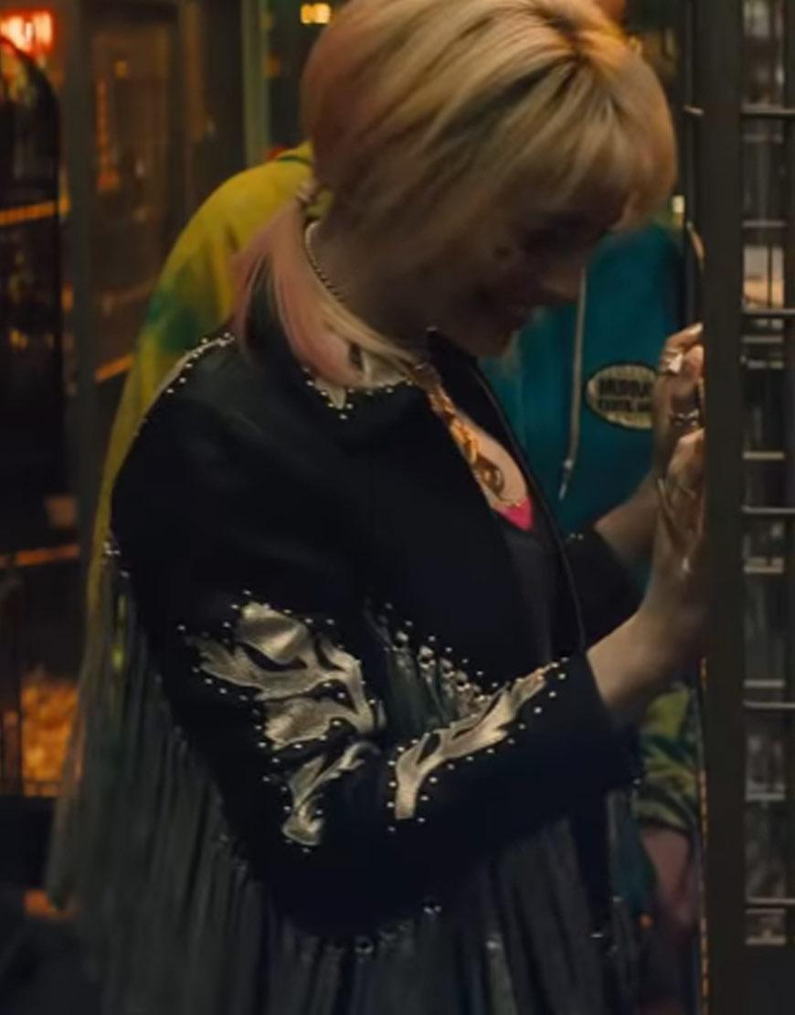 Birds Of Prey S Harley Quinn Black And Silver Fringe Jacket Tlc