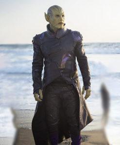 Captain Marvel Talos Leather Coat