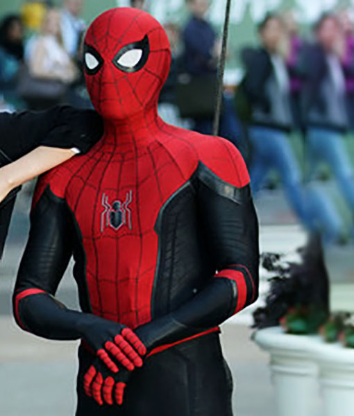 Peter Parker Spider Man Far From Home Black And Red Leather Jacket