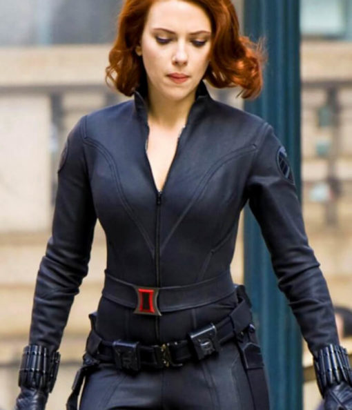 : Black Widow's Natasha Romanoff (Scarlett Johansson) Leather Jacket