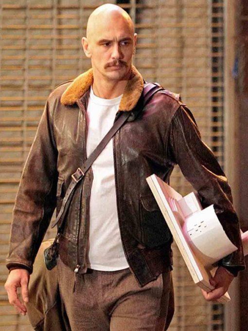 James-Franco-Zeroville-Brown-Bomber-Leather-Jacket