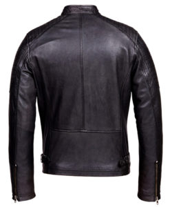 Blacky Cafe Racer Leather Jacket