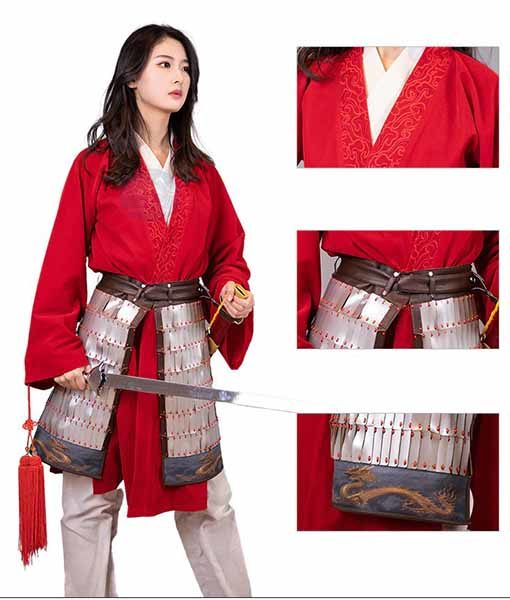 Mulan Red Hanfu Gown