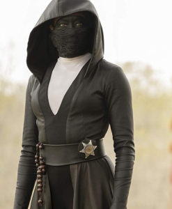 Regina King Angela Abar Watchmen Black Hooded Coat