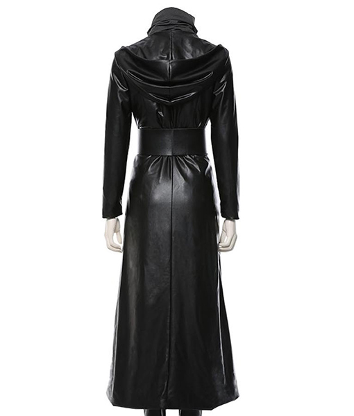 Watchmen S Sister Night Aka Angela Abar Long Leather Hooded Coat Regina King Costume