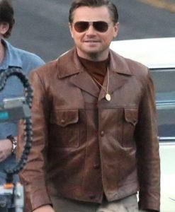 Leonardo Dicaprio Vintage Brown Leather Jacket
