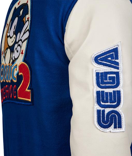 Sonic Hedgehog Blue And White Varsity Jacket Theleathercity