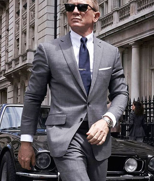 No Time To Die S James Bond Grey Suit