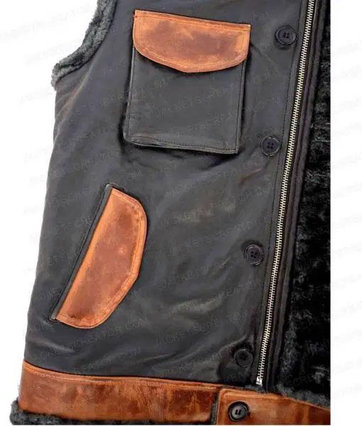 Jumanji Rock Leather Vest front