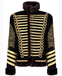Jimi Hendrix Hussars Black Jacket front