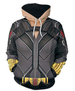 2020 Black Widow 3D Printed Hoodie