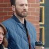 Chris Evans Super Bowl Blue Quilted Jacket – Bomber Jacket | TLC