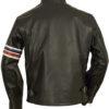 Easy Rider's Wyatt aka Peter Fonda Motorcycle Black Jacket – Back