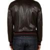 Eminem Not Afraid Jacket – Black Leather Bomber Jacket