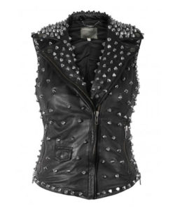 Womens Silver Studded Jacket