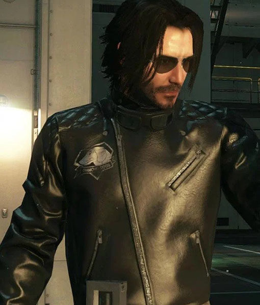 Cyberpunk 2077 Johnny Silverhand Keanu Reeves Motorcycle Leather Jacket