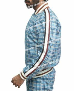 The Gentlemen Coach Tracksuit aka Colin Farrell Plaid Textured Tracksuits