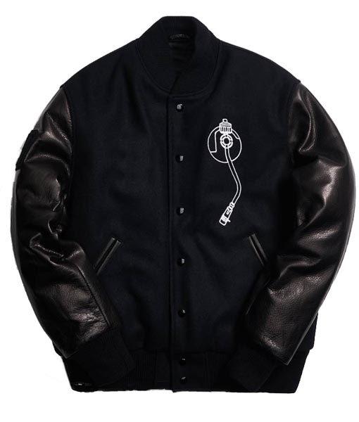 Def Jam Varsity Black Bomber Jacket Jacket   TLC