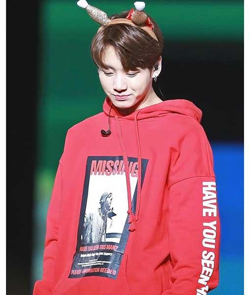BTS Jungkook MISSING Hoodie