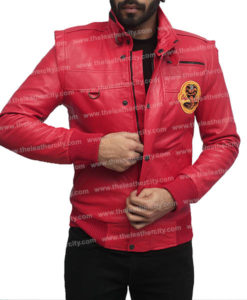 Cobra Kai Red Leather Jacket