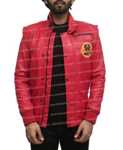 Cobra Kai Red Leather Jacket