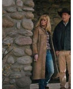 Yellowstone 03 Finale Beth Dutton Leather Coat