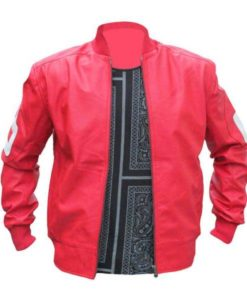 8 Ball David Puddy Red Leather Jacket