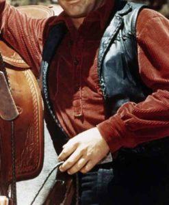 The Virginian James Drury Leather Vest