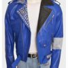 WWE Superstar Brian Kendrick Blue Motorcycle Leather Jacket | TLC