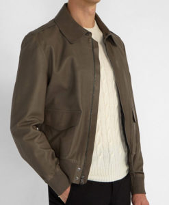 Butter Green Aviator Bomber Jacket