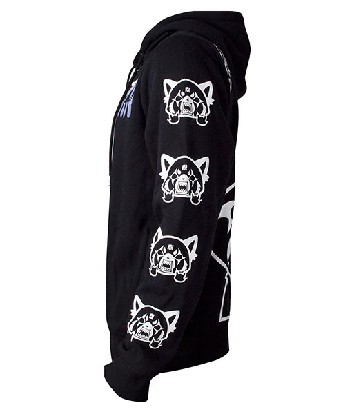 US S Official Aggretsuko Sleeve Faces Unisex Hoodie UK M