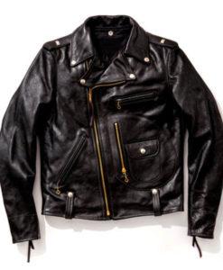 J-24 Biker Leather Jacket