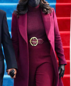 Michelle Obama Maroon Coat